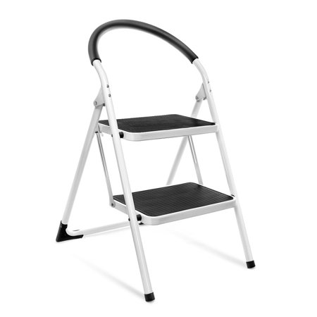 House Day 2 Step Ladder Folding Step Stool Steel