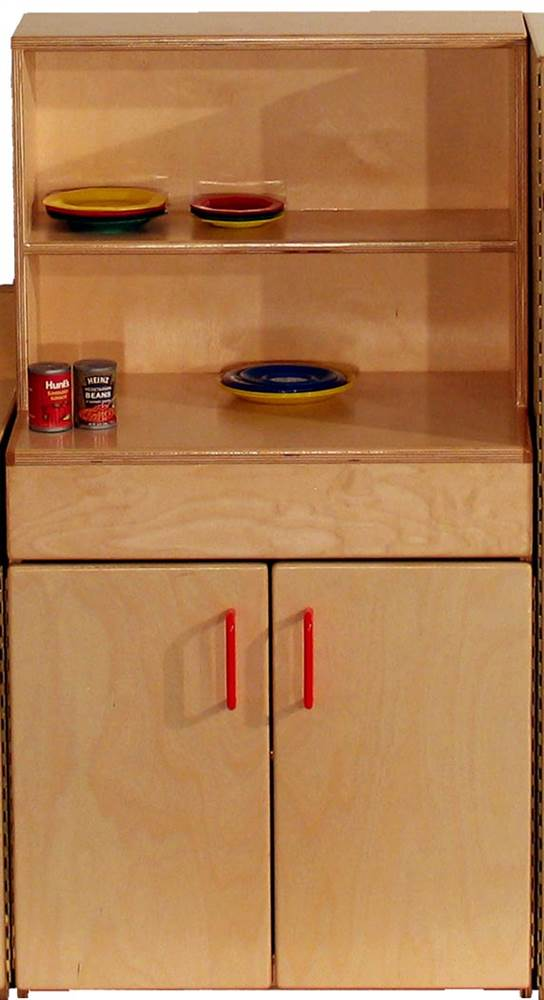 Indestructible Hutch with Counter Top for Kids (Preschool) by Strictly for Kids