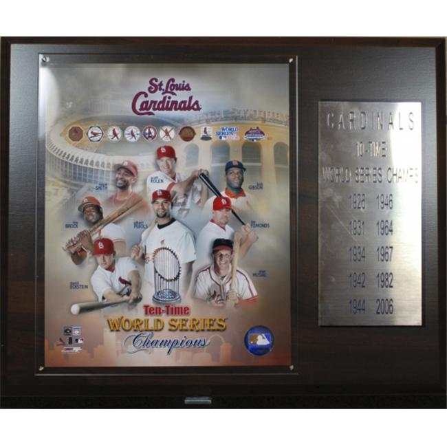 C & I Collectables 1215STL10X MLB Cardinals 10 Time World Series Champions Plaque