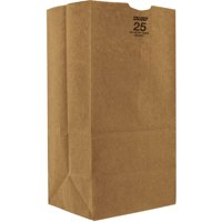 Duro Bag Fold Over Kraft Paper Bags , 25 lbs. Extra Heavy-Duty, Natural, 500 Ct