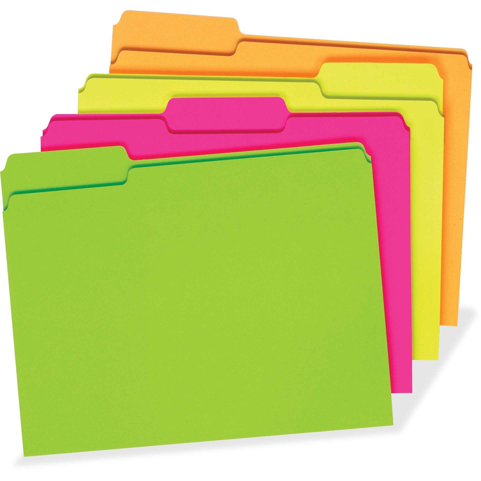 Pendaflex, PFX40523, Glow File Folder, 24 / Pack, Fluorescent Pink,Fluorescent Orange,Fluorescent Green,Fluorescent Yellow