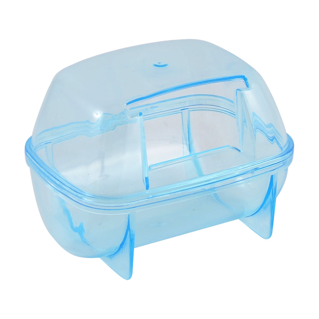 Plastic Detachable Pet Gerbil Hamster House Cage Playing Habitat Blue
