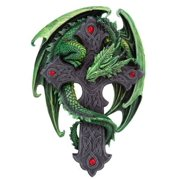 9.06 Inch Woodland Guardian Dragon Wall Plaque Statue Figurine
