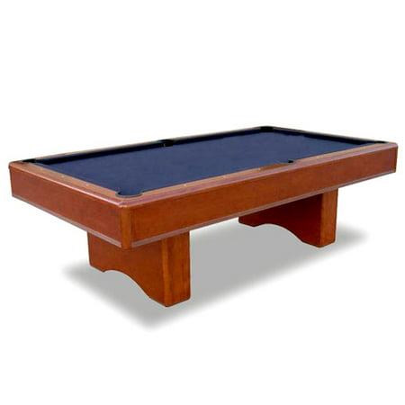 Minnesota Fats 7.5' Billiard Table, Black with Mahogany Rail and Blue Cloth