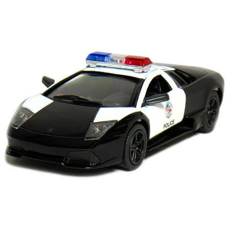 5  Die Cast  Lamborghini Murcielago Lp640 Police  Black