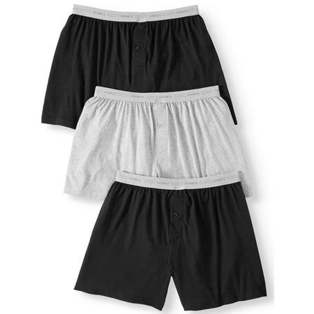Super Boxers - Hanes Big Men's SUPER VALUE Fresh IQ Comfortflex waistband Knit Boxer 3 Pack
