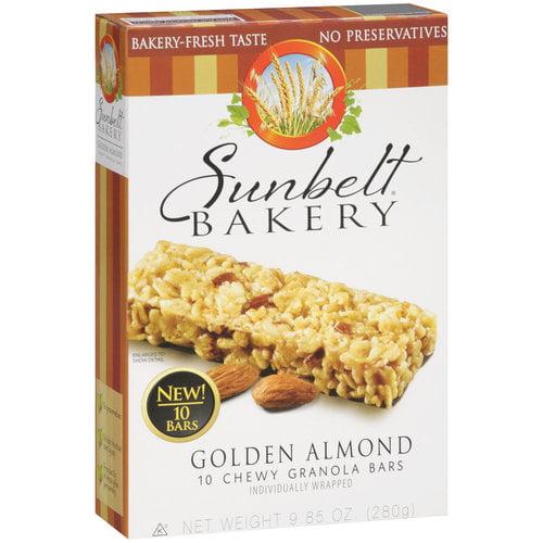 Sunbelt Bakery Golden Almond Chewy Granola Bars, 10 count