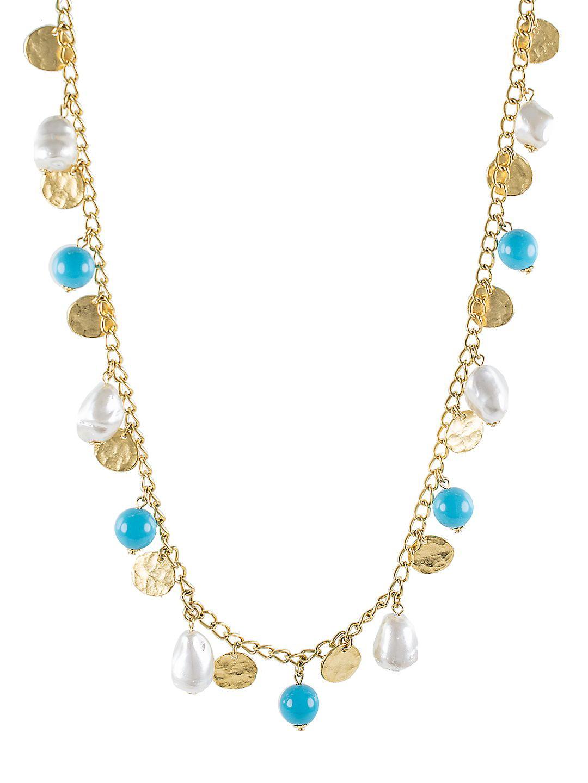 Beaded Resin Tassel Necklace