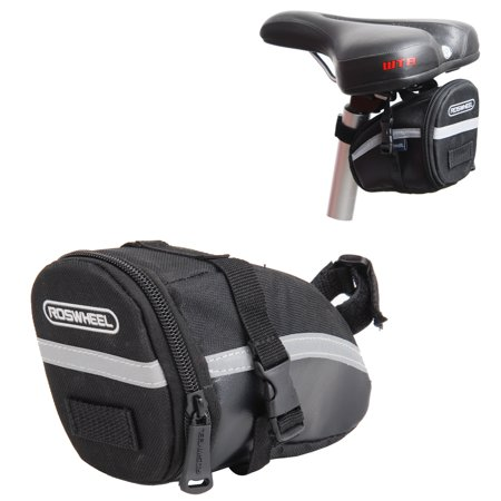Bike Bicycle Cycling Saddle Bag Tail Rear Pouch Strap-On Seat Storage (Seal Tail)