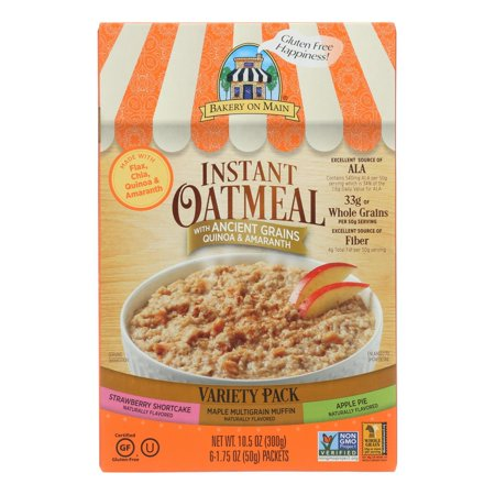 Bakery on Main Instant Oatmeal, Variety Pack, 10.5 Oz (Bakery On Main Oatmeal Apple Pie)