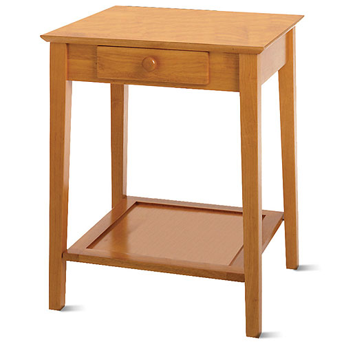 Office Printer Utility Stand, Honey Pine