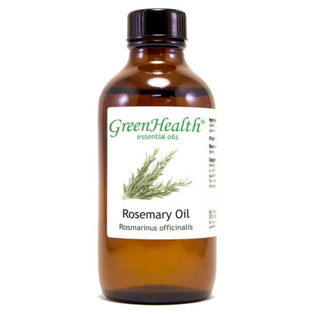 Rosemary Essential Oil - 4 fl oz (118 ml) Glass Bottle w/ Cap - 100% Pure Essential Oil by GreenHealth