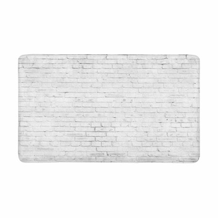 YUSDECOR Vintage White Brown Brick Wall Doormat Rug Home Decor Floor Mat Bath Mat 30x18 inch - image 1 of 3