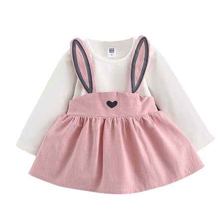 Outtop 0-3 Years Old Autumn Baby Kids Toddler Girl Cute Rabbit Bandage Suit Mini Dress