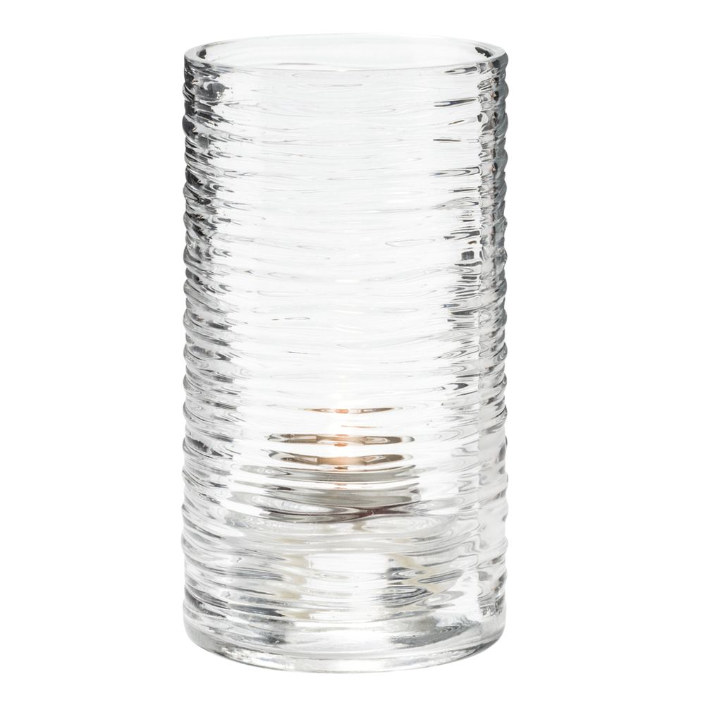 """Hollowick® Typhoon?Clear Glass Fuel Cell Holder - 5""""H"""