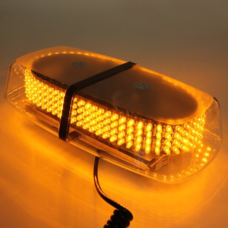 240 LED Light Bar Roof Top Emergency Hazard Warning Flash Strobe Yellow Light