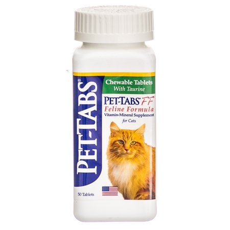 Pet-Tabs FF Feline Formula Vitamin-Mineral Supplement for Cats Pet-Tabs Supplement for Cats 50 (Symptoms Of Feline Leukemia Virus In Cats)