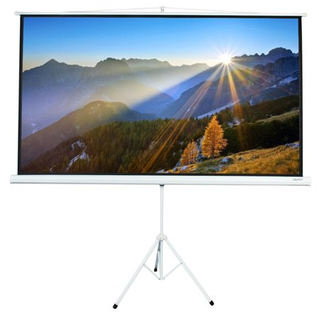 Leadzm 84 INCH 16:9 HD Portable Projector Screen with Foldable Stand Tripod, Movie Screen HD Pull Up Indoor Outdoor Projection Screen for Home Theater Cinema Movie Wedding Party Office