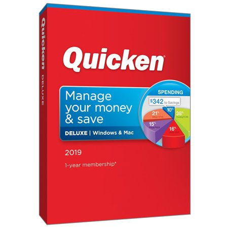 Intuit Quicken Deluxe 2019, 1 Year (Quicken Deluxe 2019 Best Price)