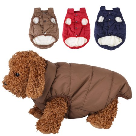 - Dog Cold Weather Coat - Waterproof Windproof Dog jacket - Winter Coat Warm Dog Apparel Doggie Vest for Small Medium Large dogs