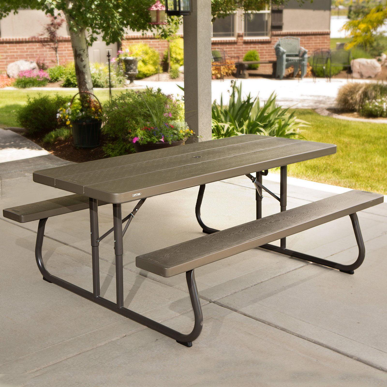 Lifetime 6' Picnic Table, Brown, 60105