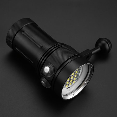 Ejoyous 15 x L2 Bright LED Diving Flashlight Aluminum Alloy Underwater Video Photography Torch , Waterproof Diving Flashlight, Underwater Flashlight - image 2 of 7