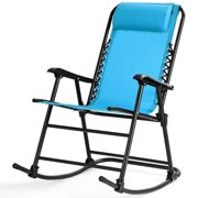 Patio Zero Gravity Rocking Chair Rocker Porch Outdoor Folding w/ Headrest
