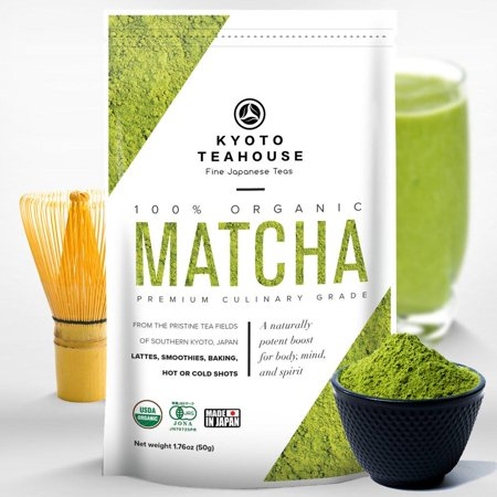 Superior Quality 100% Organic Japanese Matcha Green Tea Powder - USDA & JONA certified - Premium Culinary Grade - Perfect for Smoothies, Lattes, Baking, or Straight Shots