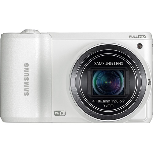Samsung White WB800F Digital SMART Camera with 16.3 Megapixels and 21x Optical Zoom