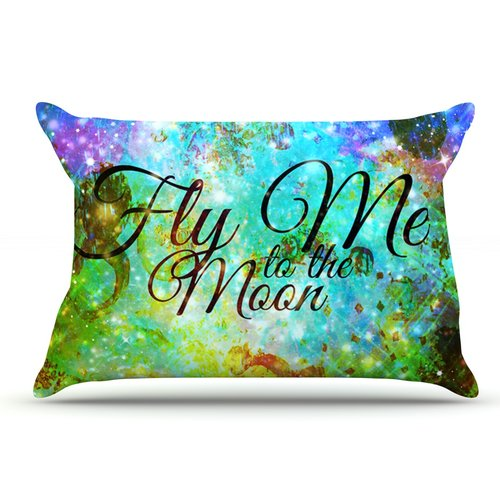 East Urban Home Ebi Emporium 'Fly Me To The Moon' Pillow Case