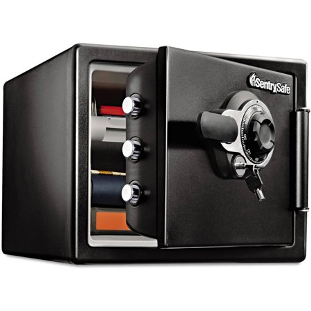 SentrySafe 0.8 cu. ft. Fire-Resistant Safe with Combination and Key, SFW082DTB