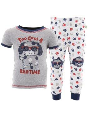 Duck Duck Goose Boys Too Cool Puppy Gray Cotton Pajamas