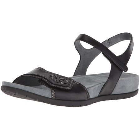Dansko Womens Blythe Leather Open Toe Casual Slingback, Black, Size 10.5-11 M Us ()