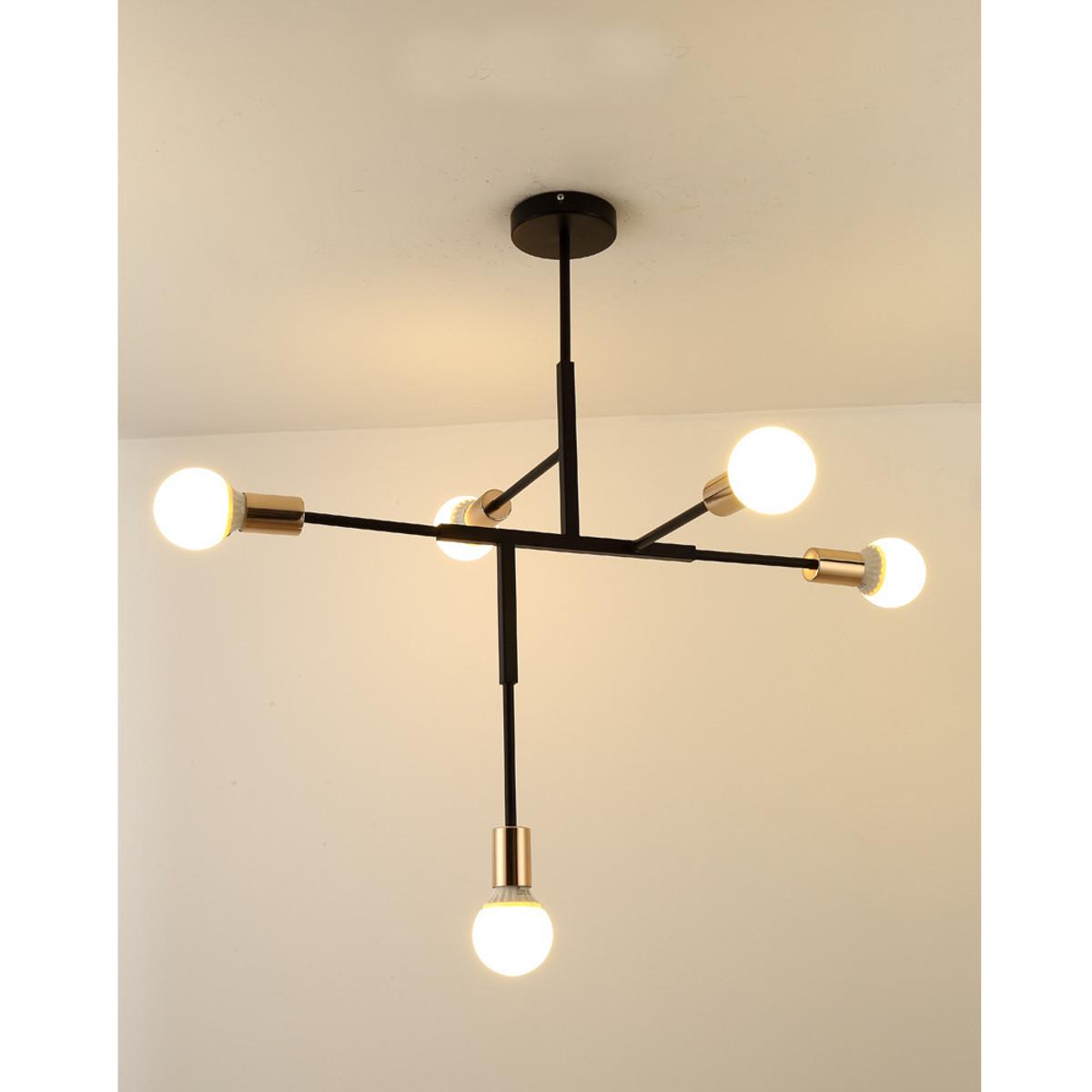 Wedlies modern metal pendant lighting hanging lamp ceiling chandelier with 5 lights fixture flush mount walmart com
