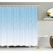 floral decor shower curtain bands strands ivy down retro celebration elements nostalgic festive art image - Bathroom Decor Blue