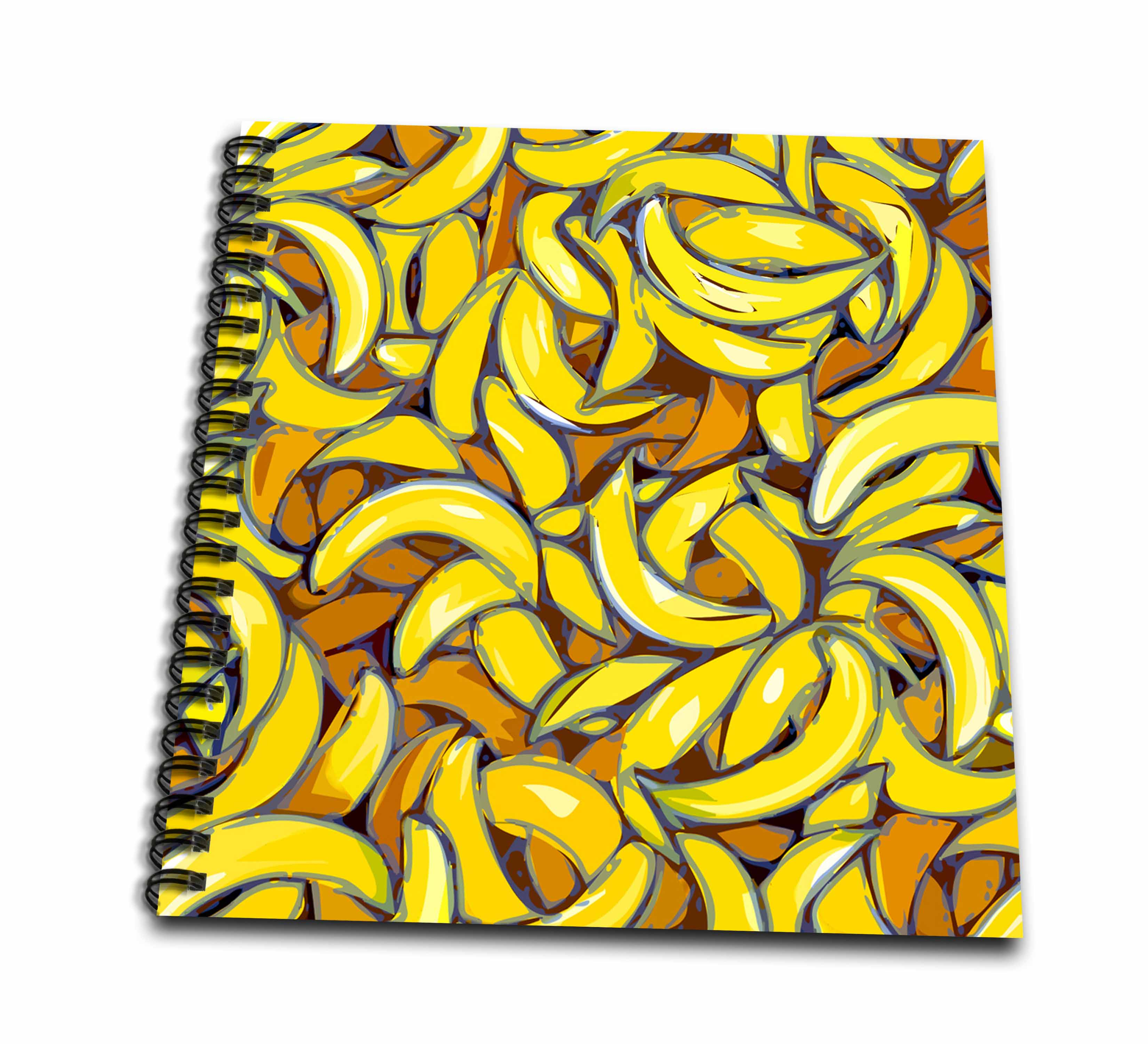 3dRose Banana Crazy - Drawing Book, 8 by 8-inch