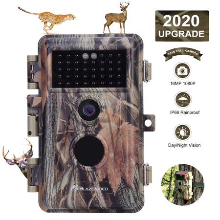 Game & Deer Trail Camera with Night Version for Wildlife Hunting No Glow Infrared Field Tree Scouting Cam for Outdoor Animal Tracking and Indoor Security Surveillance Game Camera Tree Mount