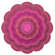 Spellbinders Nestabilities Dies, Big Scalloped Circles Large Multi-Colored