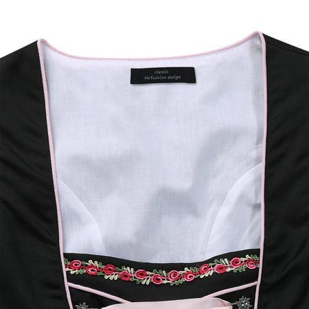 Bavarian Women's Midi Dirndl Dress 3-Pieces+Apron+Blouse - image 4 of 8
