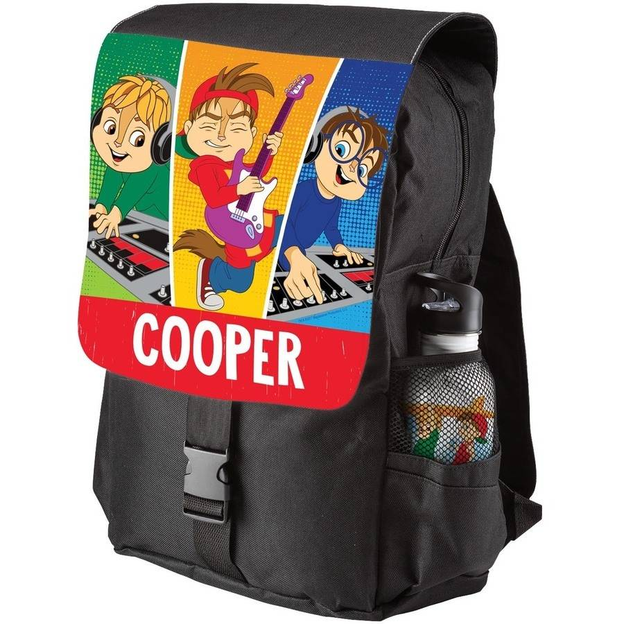 Personalized Alvin and the Chipmunks Youth Flap Backpack