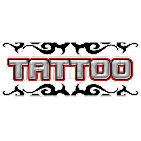 TATTOO Window Decal shop tattooing sign vinyl signs art piercing artist sticker