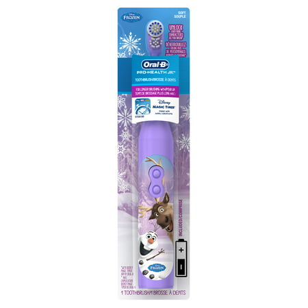 (2 pack) Oral-B Pro-Health Jr. Battery Powered Kid's Toothbrush featuring Disney's Frozen, Soft, 1