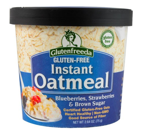 Glutenfreeda Gluten-Free Instant Oatmeal Cup, Blueberries Strawberries & Brown Sugar, 2.64 Oz