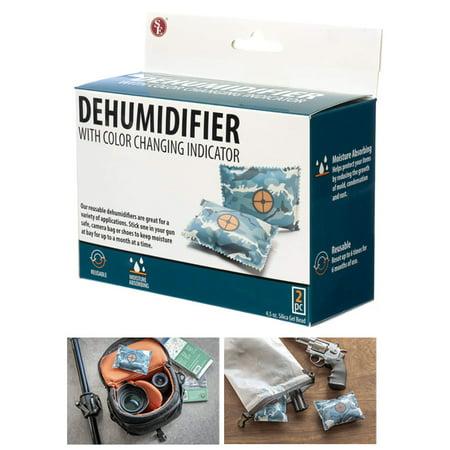 2 Pack Reusable Dehumidifier Bags Gun Safe Moisture Damp Absorber Storage Drying thumbnail