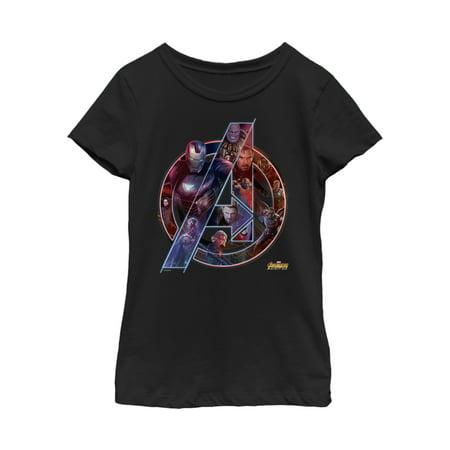 Marvel Girls' Avengers: Infinity War Logo T-Shirt Girl Logo Tank