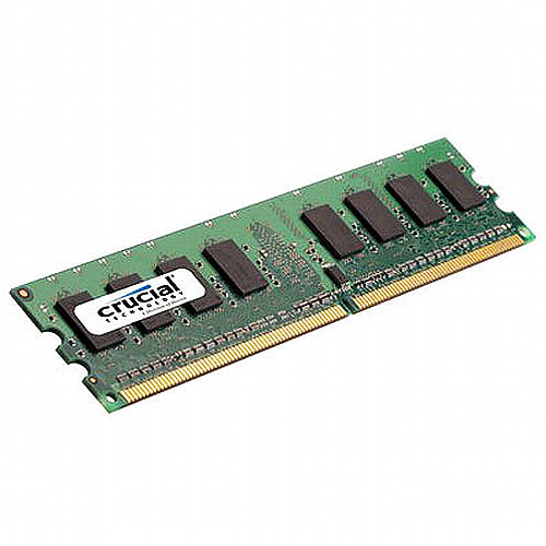 Crucial 512MB DDR2 PC2-5300 Unbuffered NON-ECC 1.8V 64Meg x 64