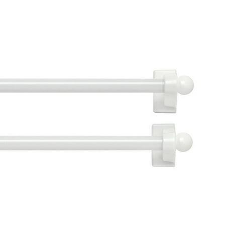 Bali Blinds Magnetic Caf Single Curtain Rod Set Of 2