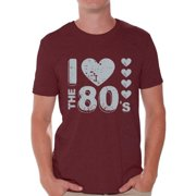 Awkward Styles I Love the 80s Shirt 80s T Shirt for Men's 80s Costumes 80s Outfit for 80s Party Retro Gray 80s Accessories 80s Rock T Shirt 80s T Shirt Vintage Rock Concert T-Shirt