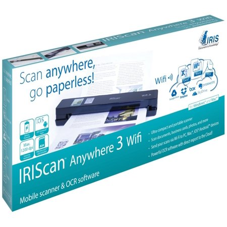 Iris 458129 I.R.I.S. IRIScan Anywhere 3 Wifi Cordless Sheetfed Scanner - 1200 dpi Optical (Best Wifi Scanner App)