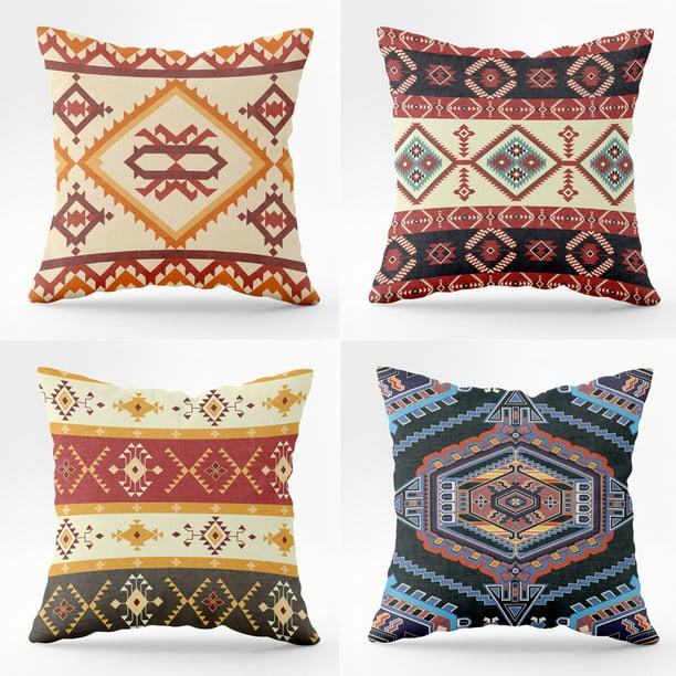 "18/"" Geometric Vehicles Letters Animal Throw Cushion Cover Sofa Pillow Case Decor"